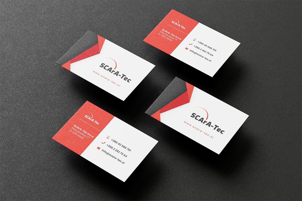 grafično oblikovanje armdesign projekti scara tec